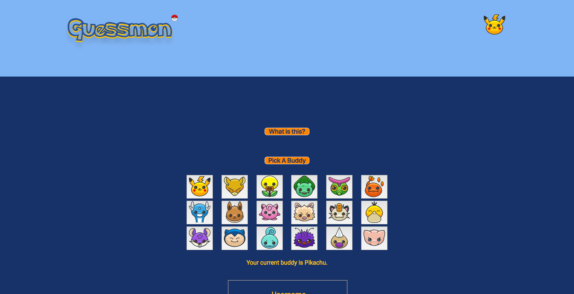 Screenshot of website.